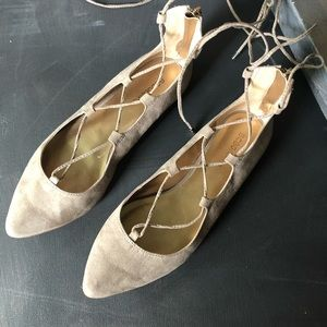 BCBG GENERATION Micro Gilly Lace Up Flats